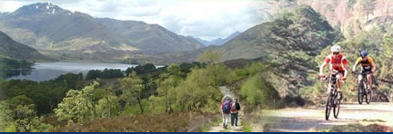 Walking and biking in Glen Affric National Nature Reserve, near Shenval B&B