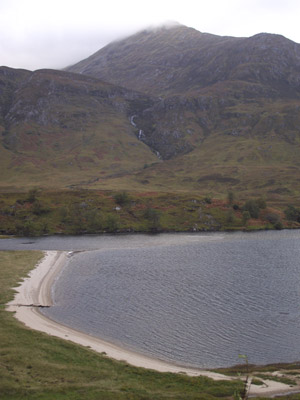 Walking Affric Kintail Way from Shenval B&B overlooking Loch Affric beach