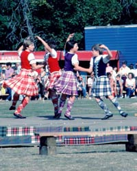 Highland dancing competition, Glenurquhart Highland Games, by Loch Ness and Shenval B&B