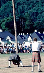 Tossing the Caber, Drumnadrochit Highland Games, Loch Ness, Shenval B&B